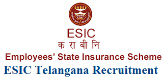 ESIC Telangana Recruitment 2017 Apply Online for esic.nic.in