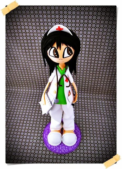 enfermera goma eva, fofucha enfermera