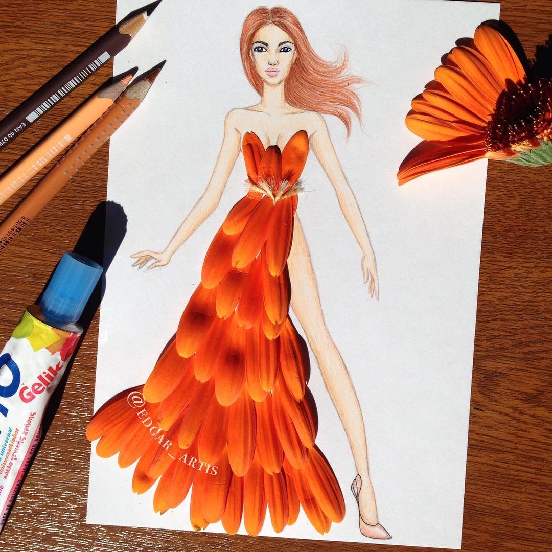 19-Flower-Petals-Edgar-Artis-Drink-Food-Art-Dresses-and-Gowns-Drawings-www-designstack-co