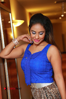 Telugu Actress Srilekha Reddy Latest HD Pos in Sleeveless Blue Top at Muse Art Gallery  0051.JPG