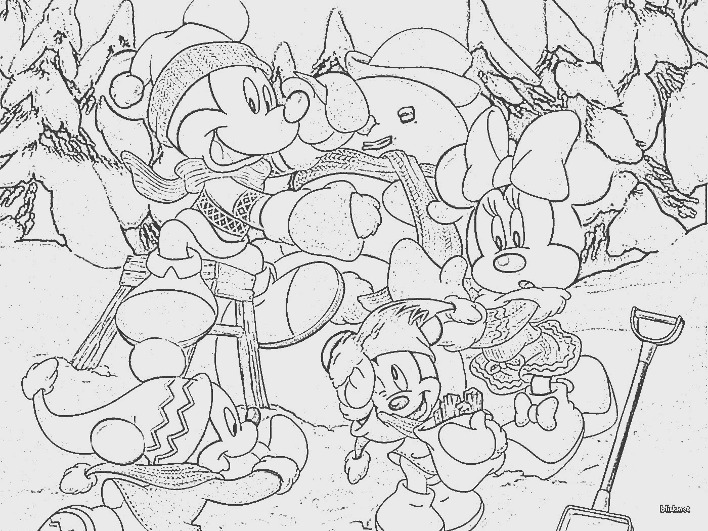 Disney Christmas Coloring Sheets Free