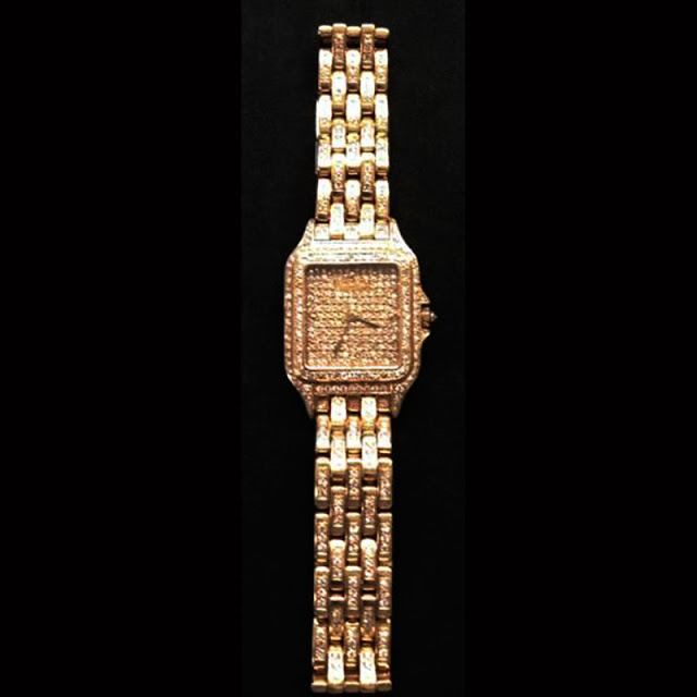 $100,000 Watch - A gold Cartier diamond encrusted watch was left at the Newark Liberty International Airport (EWR) security checkpoint. A TSA officer spotted the watch and turned it into the TSA lost and found location. The $100,000.00 watch was picked up the next day.