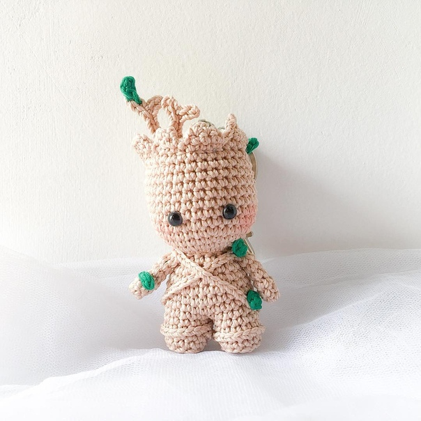 Free Crochet Pattern: Potted Baby Groot from Guardians of the ... | 604x604