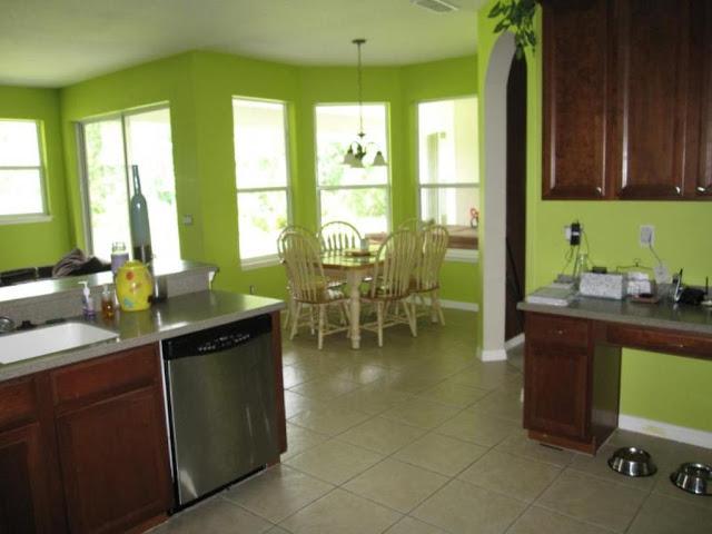 Interior Dapur Minimalis Dengan Cat Warna Hijau Interior Dapur Minimalis Dengan Cat Warna Hijau