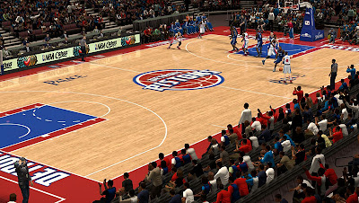 NBA 2K13 Detroit Pistons Court Mod