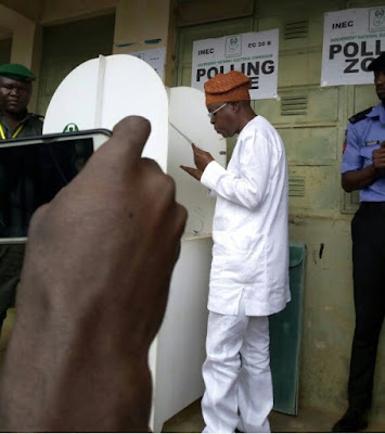 Osun Election: APC Candidate, Gboyega Oyetola Casts His Vote