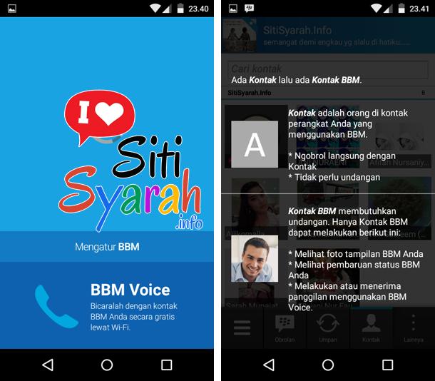 mengganti akun bbid bbm di android