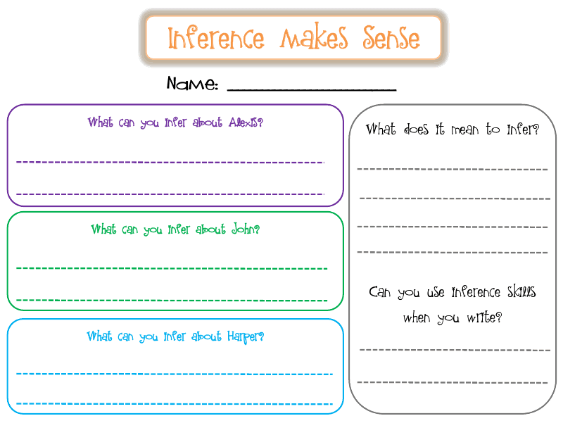 First Grade Frenzy March 2011 – Inference Worksheets Middle School