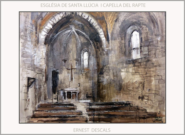 RUTA IGNASIANA-MANRESA-PINTURA-SANT IGNASI-LOIOLA-ESGLÈSIA-SANTA LLÚCIA-CAPELLA DEL RAPTE-ART-PINTURES-ARTISTA-PINTOR-ERNEST DESCALS-