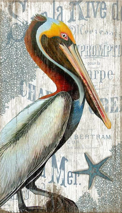 Pelican Painting on Wood