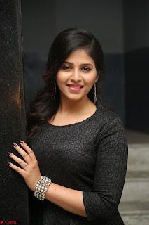 Anjali in Black Short Dress at Chitrangada Movie Success Meet ~  021.JPG