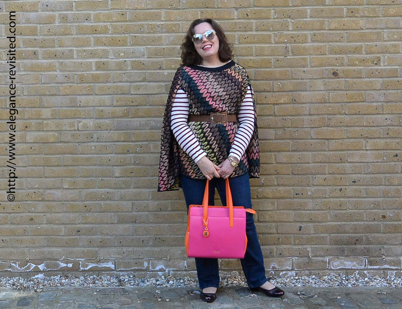 how to wear a Missoni poncho