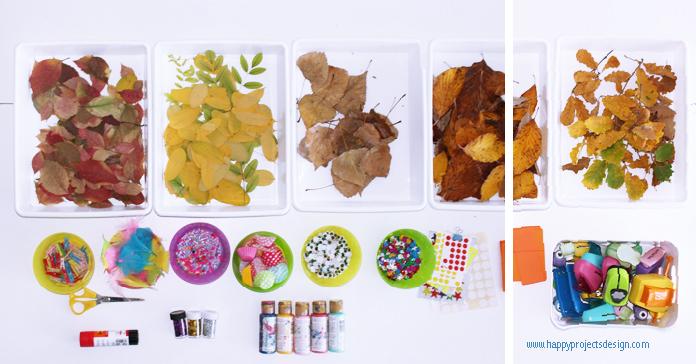 diy otoño personajes con hojas