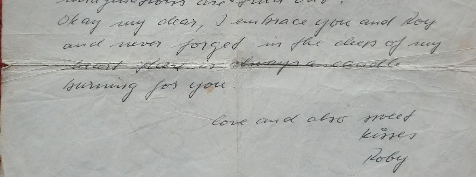 part of handwritten letter by Robert von Rotz key account