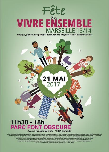 Dimanche 21 Mai 2017 : Fête du Vivre Ensemble au Parc de Font Obscure avec la Fanfare TTGL
