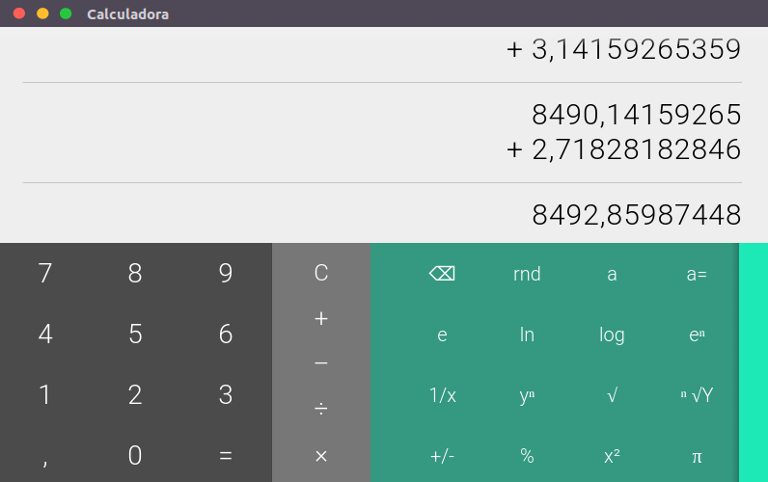 Calculadora estilosa do Chrome OS para o navegador Google Chrome