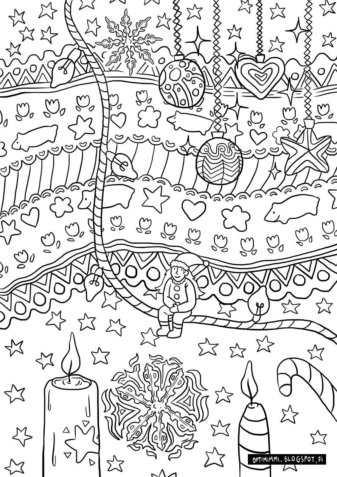 optimimmi 2016 coloring pages 2016 värityskuvat