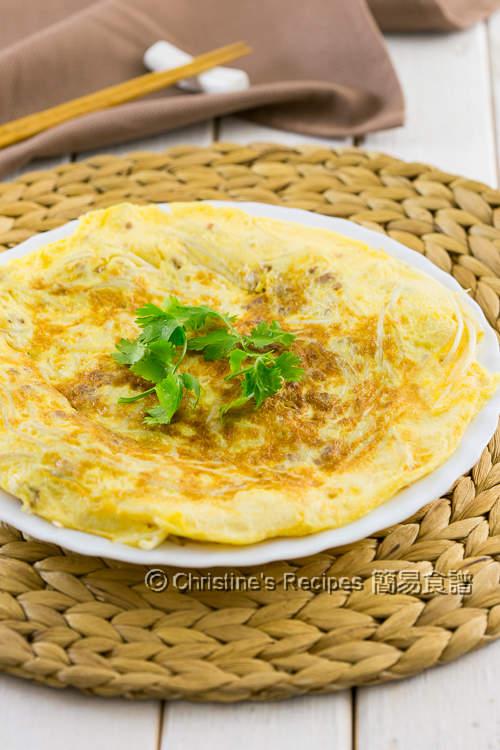 銀芽肉碎煎蛋 Pork & Bean Sprout Omelette02