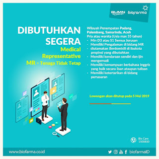 Lowongan BUMN PT Bio Farma (Persero) April 2019