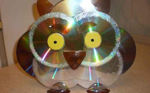 Картинки по запросу Поделки из дисков