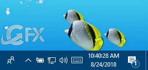 One-Click With The Taskbar Clock Display Seconds in Windows