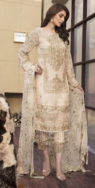 Freshly launched motifz Chiffon embroidered Collection 2019 for Ladies