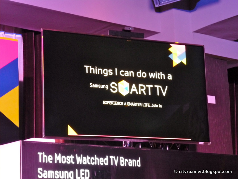 Samsung SMART TV on display
