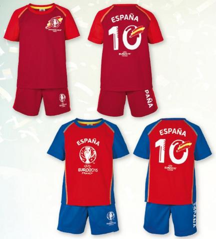 camisetas y pantalón de fútbol infantil España Eurocopa Lidl