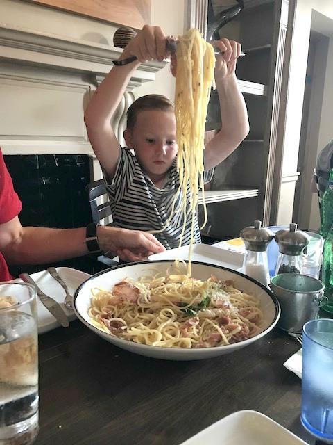 La famiglia spaghetto carbonara