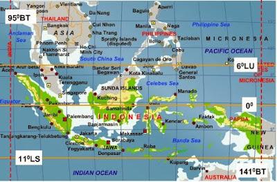 Letak Astronomis dan Geografis Indonesia Letak Astronomis dan Letak Geografis Indonesia