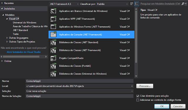 [TUTORIAL] C# .NET  Instalar Cargas de trabalho/Componentes Individuais no Visual Studio Novo%2BProjeto%2B2