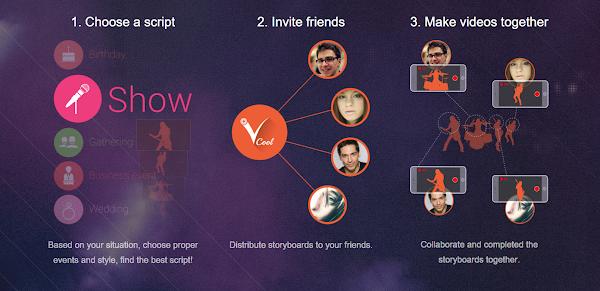 《Vcool+》提供的多方協作影片APP