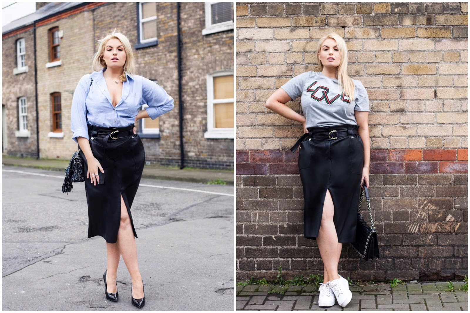Trend Tackler: The Leatherette Pencil Skirt