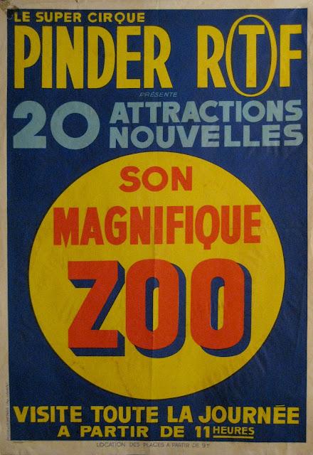 Affiche texte du cirque Pinder de Charles Spiessert
