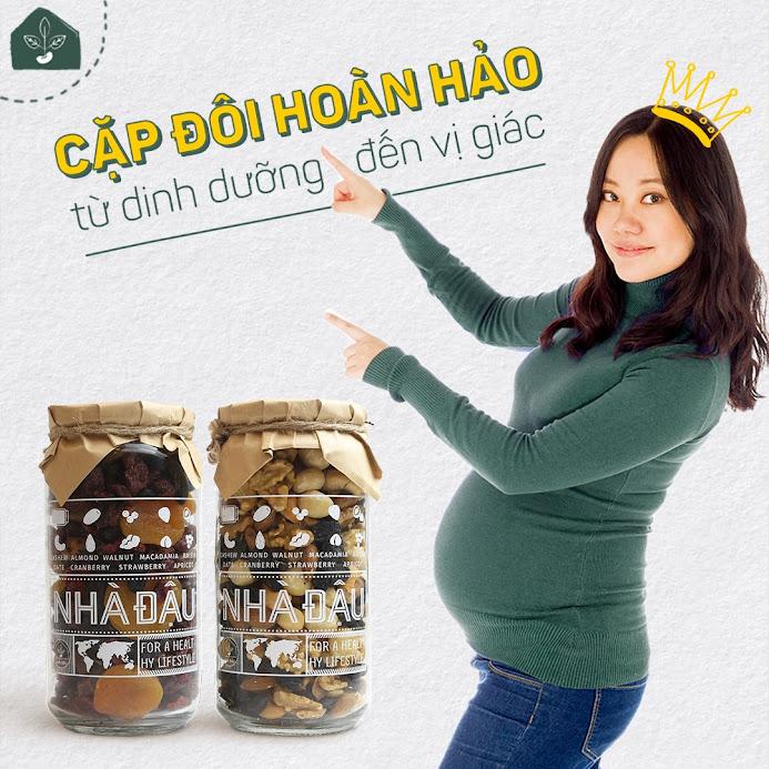 Mixnuts dinh dưỡng Bà Bầu 1 tháng ăn vào Con