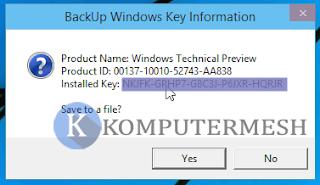 Cara Melihat Product Key Windows 10