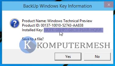 Cara Melihat Product Key Windows 10 tanpa software