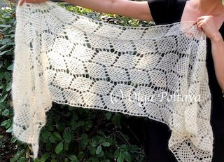 Lacy Leaves Shawl Crochet Pattern
