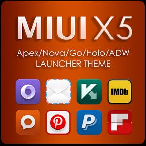 MIUI X5 HD Apex/Nova/ADW Theme Full Apk v3.4.0 Download Working