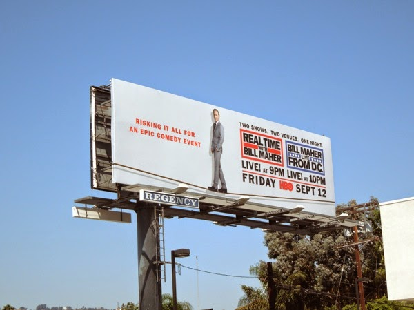 Bill Maher tightrope billboard