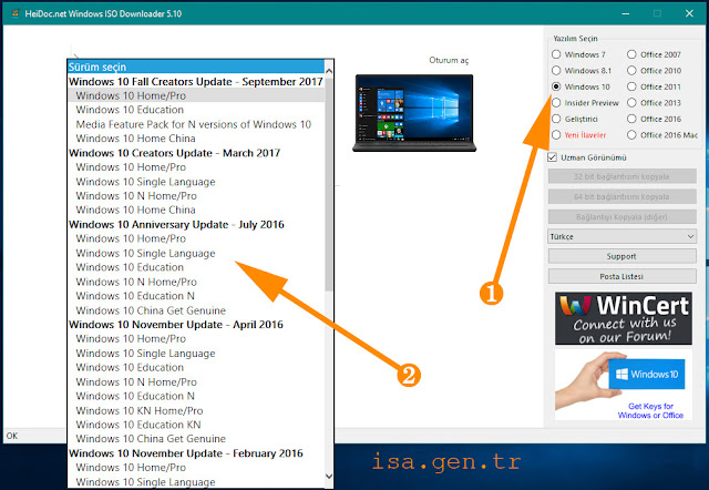 windows 10 home pro iso indir