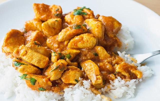 Receta de pollo al curry paso a paso