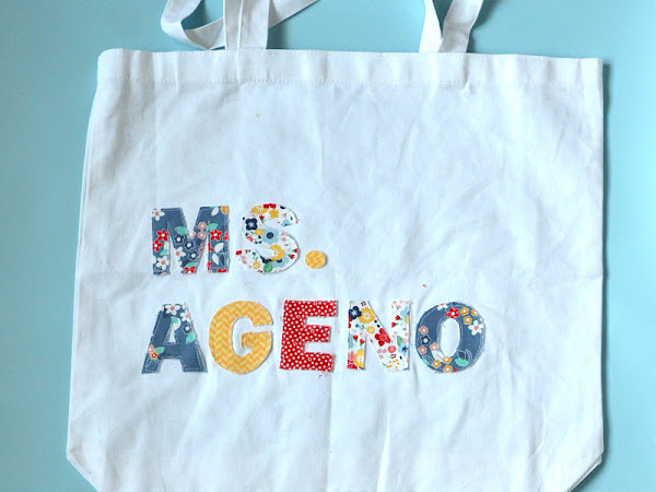 How to Cut out Fabric Letters and Add to a Bag