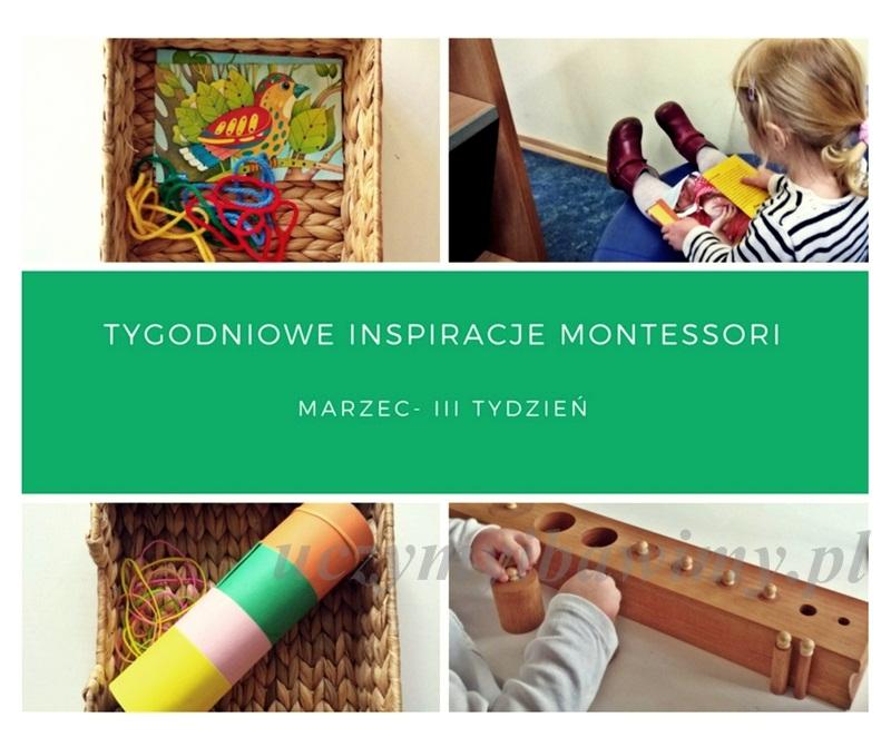 Tygodniowe inspiracje Montessori - MARZEC - III TYDZIEŃ