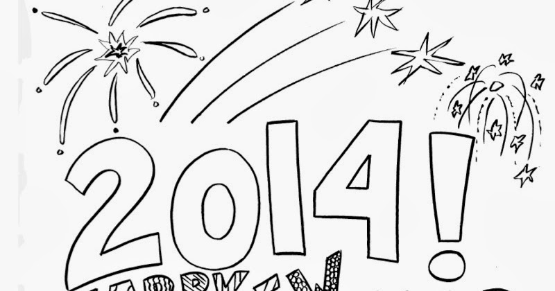 2 Scoops of Kindergarten: New Years coloring page