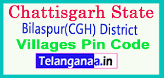 Bilaspur(CGH) District Pin Codes in Chattisgarh State