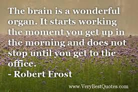 the brain is a wonderful organ.