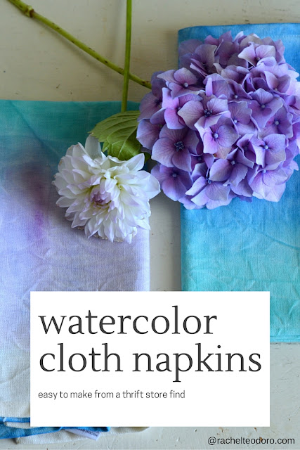 craft tutorial using cloth napkins and paint
