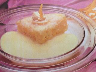 Bizcocho de pomelo con crema