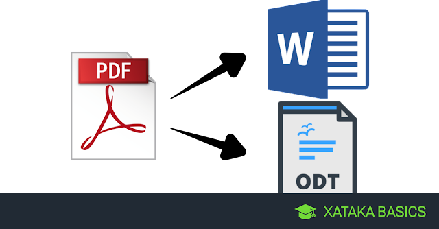 How to convert a PDF to Word or ODT online and without installing anything